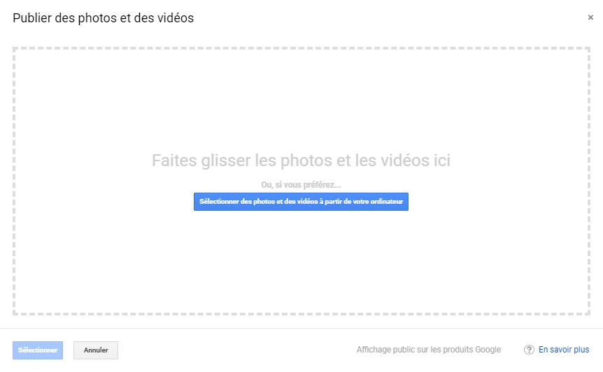 Exemple montrant l'endroit où vous publiez vos vidéos pour les mettre en ligne sur votre tableau de bord GME